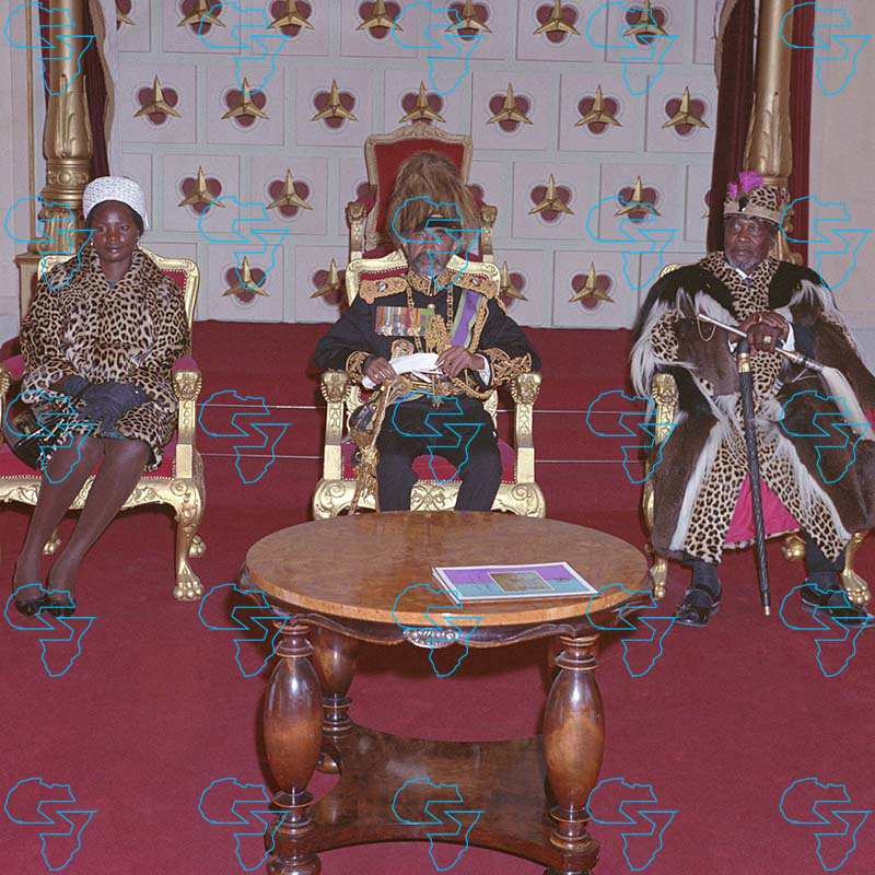 HIM Haile Selassie I, His Excellency President Jomo Kenyatta of Kenya and his wife