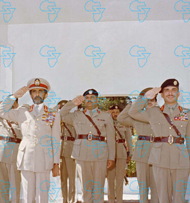 Emperor Haile Selassie I of Ethiopia and King Hussan of Jordan