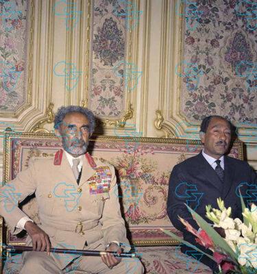 Emperor Haile Selassie I of Ethiopia and President Muhammad Anwar al Sadat (Egypt)
