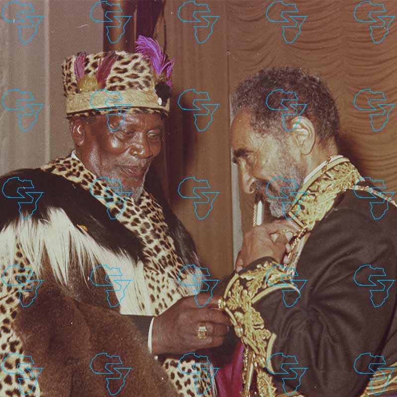 Emperor Haile Selassie I of Ethiopia and Jomo Kenyatta (Kenya)